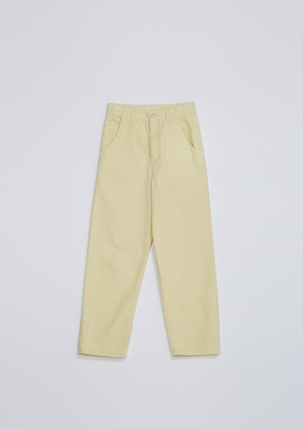 Garment Dyed Highrise Jean - Lemon Cotton