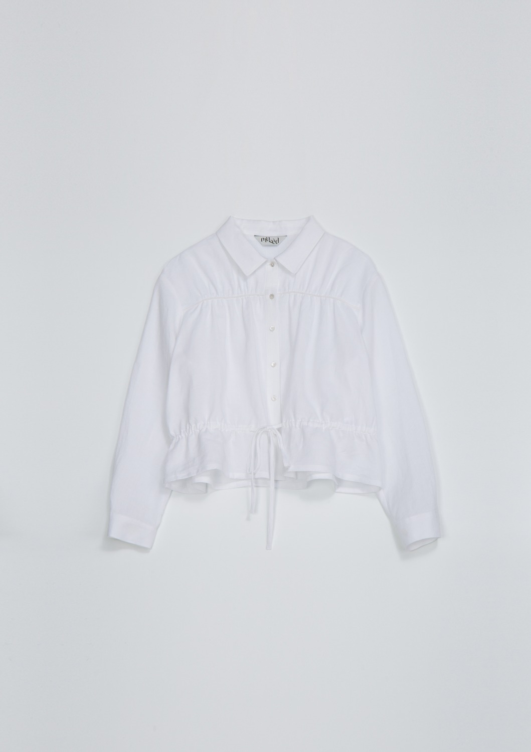 Bien Shirt Jacket - Optic White Linen