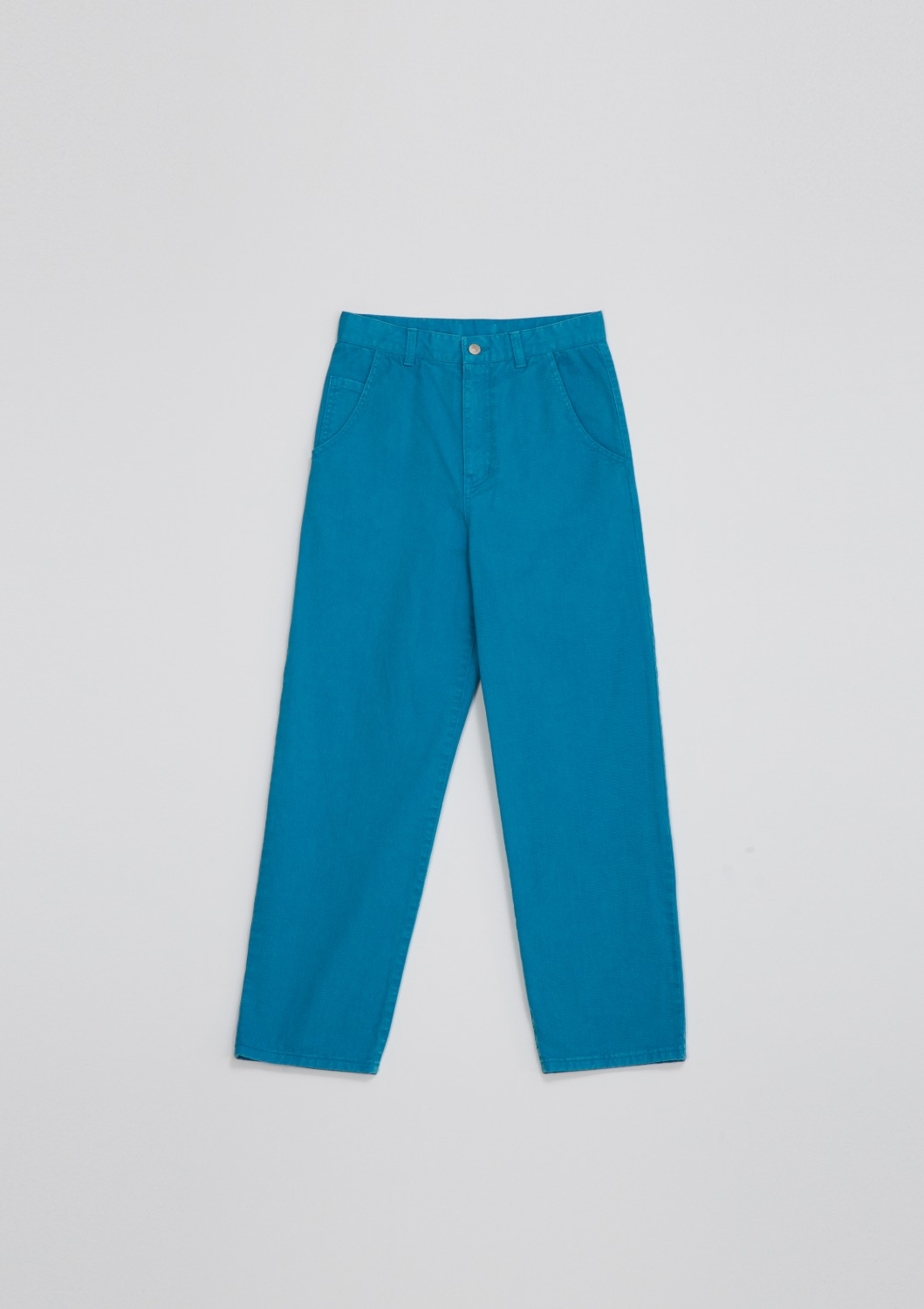 Garment Dyed Highrise Jean - Aqua Blue Cotton