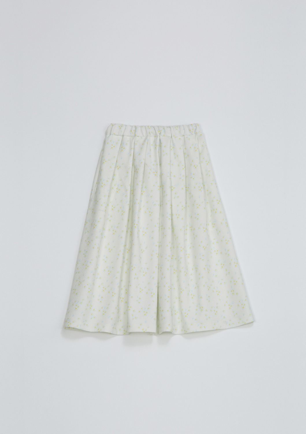 Layla Skirt - Ivory Floral Artwork