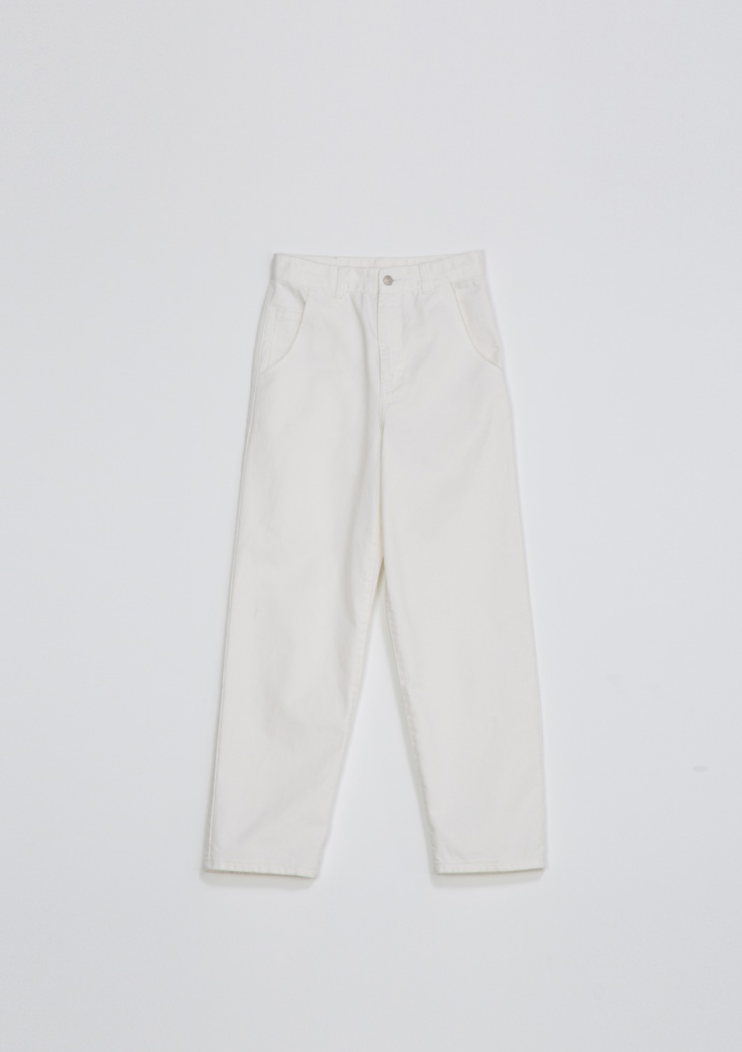Garment Dyed Highrise Jean - Optic White Cotton