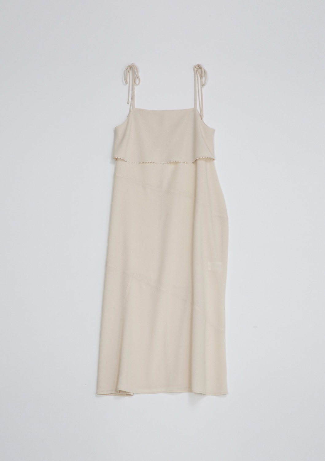 En Fete Slip Dress - Cream Crepe